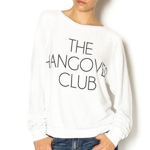 Wildfox The Hangover Club Sweater White Sz Small